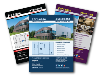commercial real estate marketing flyers