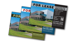 Commercial real estate property postcards for Commercial real estate marketing plan template